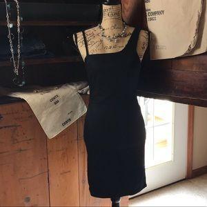 Topshop Black denim sheath mini dress